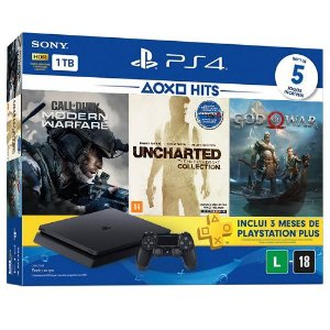 Console Playstation 4 Slim 1TB Mega Pack 5 Jogos