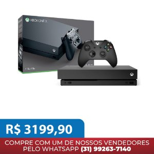 Console Xbox One X 1TB Disponivel