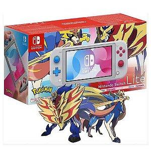 Console Nintendo Switch Lite Edição Pokémon Zacian e Zamazenta