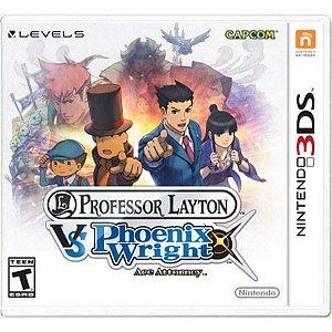 Professor Layton VS Phoenix Wright Ace Attorney Seminovo – 3DS