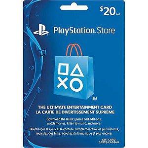 Cartão PSN $20 – Playstation Network Card – USA