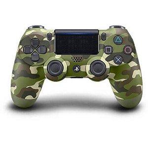 Controle Sem Fio – Dualshock 4 Camuflado (Green Camo) Seminovo – PS4