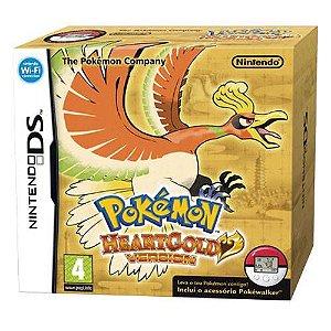 Pokémon Soul Heart Gold Version + Pokéwalker Seminovo – DS