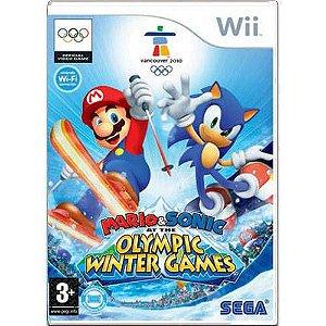 Mario e Sonic At The Olympic Winter Games Seminovo - Wii