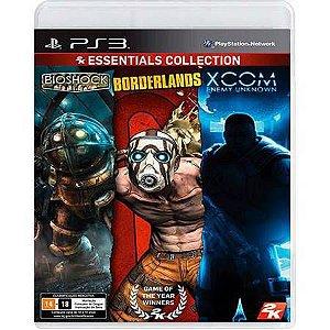 Bioshock + Borderlands + Xcom Enemy Unknown (2K Essentials Collection) Seminovo - PS3