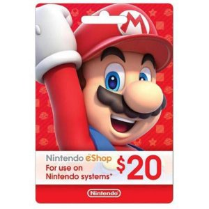 Cartão Nintendo Switch / 3DS / Wii U eShop (Cash Card) $20