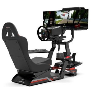 Cockpit Virtual Experience - VE.3 Estação Completa - Banco Vermelho
