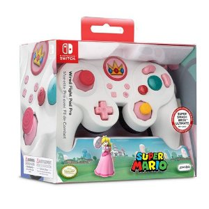 Controle Com Fio USB Wired Fight Pad Peach Edition PDP - Nintendo Switch