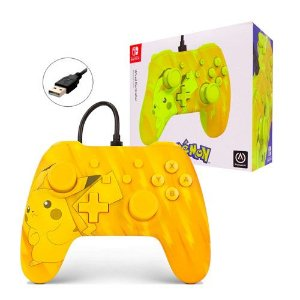 Controle Wired/ Com Fio Nintendo Switch Edição Pokémon Pikachu - PowerA - Nintendo Switch