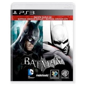 Batman: Arkham Asylum + Batman: Arkham City Seminovo - PS3