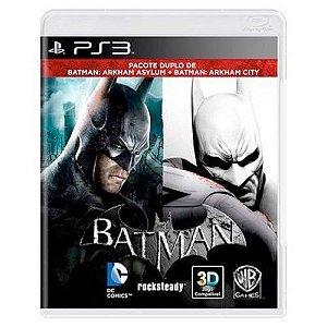 Batman: Arkham Asylum + Batman: Arkham City Seminovo - PS3
