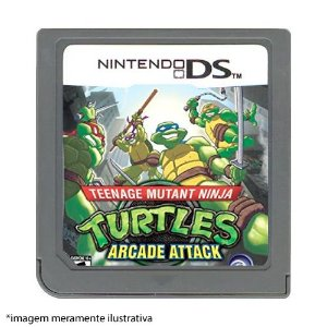Turtles Arcade Attack Seminovo (SEM CAPA) - Nintendo DS
