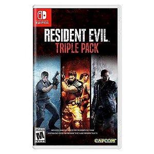 Resident Evil Triple Pack Seminovo (Codigos não Usados) - Nintendo Switch
