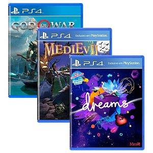 Triple Pack #1 - God of War / Dreams / MediEvil - PS4