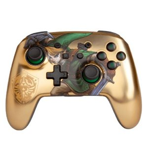 Controle PowerA Enhanced Wireless Zelda Link Gold - Nintendo Switch