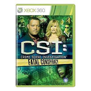 CSI: Fatal Conspiracy (EUROPEU) Seminovo - Xbox 360