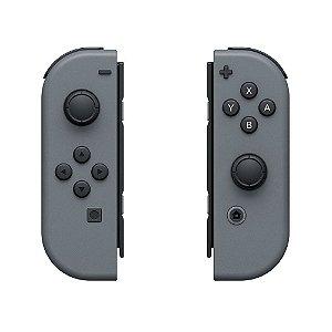Controle Nintendo Joy-Con (Direito e Esquerdo) Cinza Seminovo - Nintendo Switch