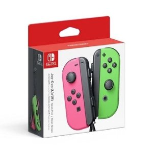 Controle Joy-Con Nintendo Switch Rosa e Verde