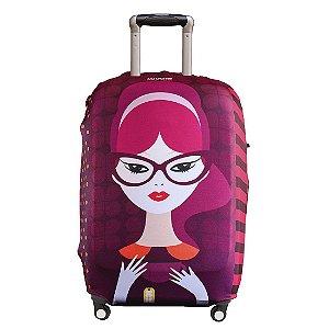 Capa para Mala Luggio Premium Estampa Violetta