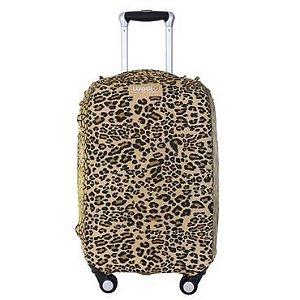 Capa para Mala Premium Luggio Estampa Leopard
