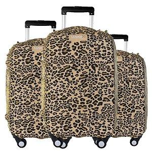Kit Capas para Malas Premium Leopard