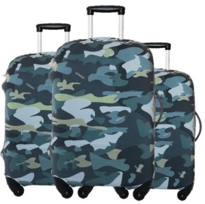 Kit 3 Capas para Malas Luggio Basic Estampa Camo