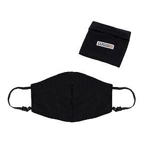 Kit 2 Máscaras Antivirais Luggio Infantil Pretas com Porta Máscaras