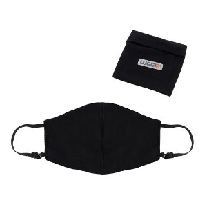 Kit 8 Máscaras Antivirais Luggio Infantil Pretas com Porta Máscaras