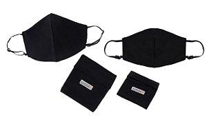 Kit 2 Máscaras Antivirais Adulto e Infantil Luggio com Porta-Máscaras