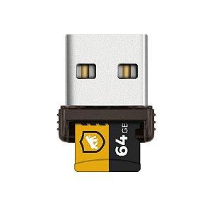 Cartão de Memória Turbo 64GB U3 + Adaptador Pendrive Nano Slim + Adaptador SD - Gshield