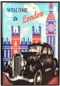 QUADRO CARRO LONDON DECORATIVO 20X30 CM