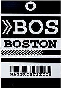 PLACA BOSTON 20 X 30 CM