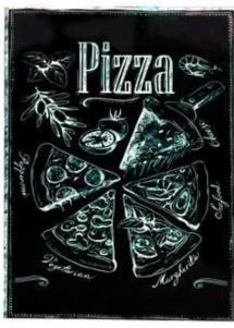PLACA DECORATIVA PIZZA 20X26 CM