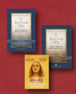 KIT: DEUS FALA COM ARJUNA - O BHAGAVAD GITA - VOL. 1 E 2 + DVD AWAKE