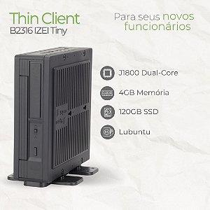 MINI PC - B2316 IZEI TINY - INTEL CELERON J1800 DUAL CORE | 4GB MEMÓRIA | SSD 120GB | Lubuntu