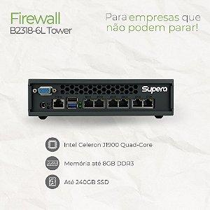 Firewall Tower - B2318-6L - Intel Celeron J1900 Quad Core - 6 Rede RJ45 GbE - até 8GB memória - até SSD 240GB e HD 1TB