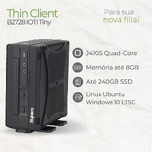 Mini PC - B2728 IÓTI Tiny - Intel Celeron até J4105 Quad Core | até 8GB Memória | até SSD 240GB | Até 7 USB | 4 Seriais | WiFi | Windows 10 LTSC - Linux