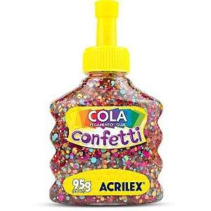 COLA COM GLITTER CONFETTI TUTTI-FRUTTI 95G ACRILEX