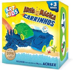 MASSA AREIA CARRINHOS 200G KIT ACRILEX