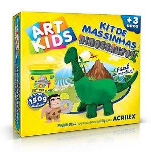 MASSINHA PARA MODELAR ART KIDS DINOSSAURO 1 VERDE ACRILEX