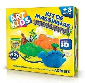 MASSINHA PARA MODELAR ART KIDS DINOSSAURO 3D 150G ACRILEX