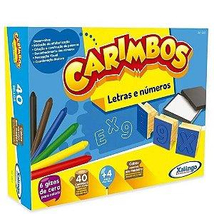 CARIMBO PEDAGÓGICO LETRAS E NÚMEROS 40 PEÇAS