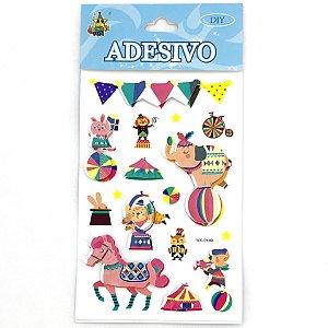 CARTELA DE ADESIVOS 3D CIRCO