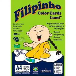 PAPEL CREATIVE FILIPINHO 120G COLOR CARDS LUMI 25 FOLHAS