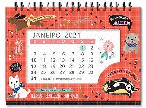 CALENDÁRIO DE MESA 2021 FINA IDEIA CACHORRO AMIGO 2586