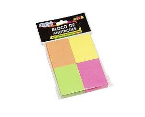 BLOCO ADESIVO SMART NOTES 38X51 100F C/4 NEON BRW