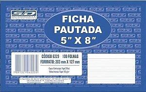 """FICHA PAUTADA 5"""" x 8"""" SÃO DOMINGOS"""