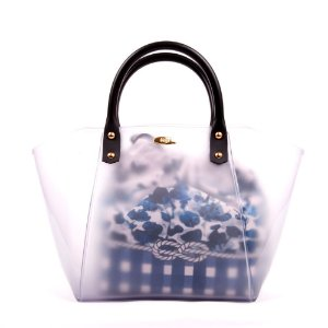 Bolsa Satchel Gasf Transparente Com Sacola Floral Azul BG005 - Unidade