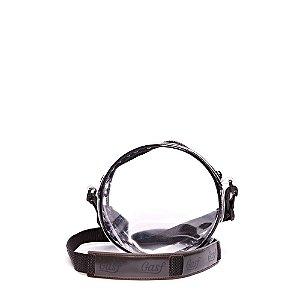 Bolsa Tiracolo Gasf Transparente/Preto BG006 - Unidade