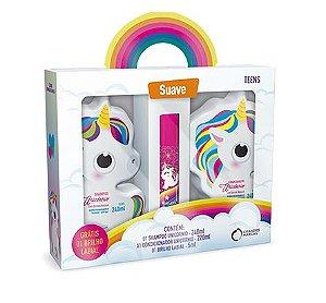 Kit Unicornio Grandes Marcas Shampoo Condicionador e Brilho